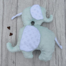 Load image into Gallery viewer, Stuffed Elephant toy - mint green - Sewn by Sarah - new baby gift - nursery - children