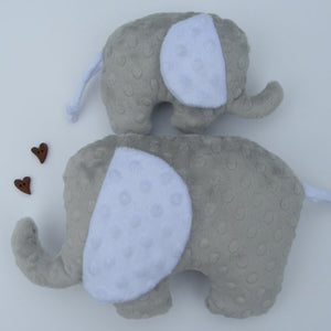 Stuffed Elephant toy - Grey - Sewn by Sarah - new baby gift - nursery - children
