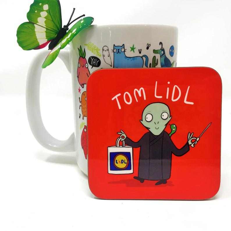 Tom Lidl coaster - Katie Abey - Magical puns