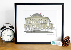 Corn Exchange Leeds Print - Accidental Vix Prints - Leeds illustrations