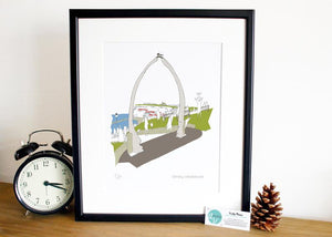 Whitby Print- Accidental Vix Prints - Yorkshire illustrations