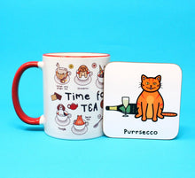 Load image into Gallery viewer, Purrsecco coaster - Innabox - Cats - Puns - Animal lover gift - Prosecco fans