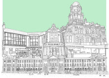 Load image into Gallery viewer, Hyde Park Leeds Collage - Illustration - A4 print - Art by Arjo - Yorkshire Art - Leeds