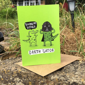 Greetings Card - puns - Katie Abey - Dad - Star Wars