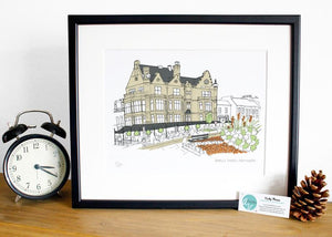 Bettys Tearoom - Harrogate Print - Accidental Vix Prints - Yorkshire illustrations