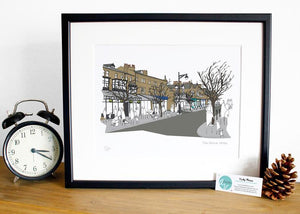 Ilkley Print - The Grove - Accidental Vix Prints - Yorkshire illustrations