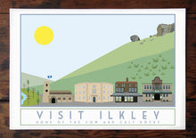 Load image into Gallery viewer, Ilkley Travel inspired poster print - Sweetpea & Rascal - Yorkshire prints - Yorkshire scenes and landmarks