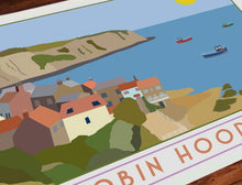 Load image into Gallery viewer, Robin Hoods Bay tourism inspired poster print - Sweetpea & Rascal - Yorkshire coast