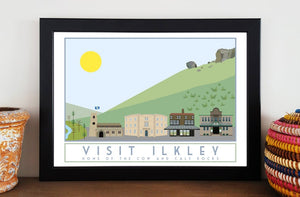 Ilkley Travel inspired poster print - Sweetpea & Rascal - Yorkshire prints - Yorkshire scenes and landmarks