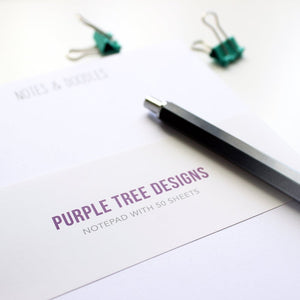 A5 Notes and Doodles Notepad - cats - cat lovers - Purple Tree Designs - stationery