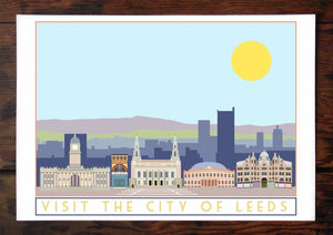 Leeds Travel inspired A3 poster print - Sweetpea & Rascal - Yorkshire prints