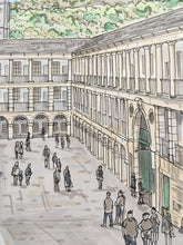 Load image into Gallery viewer, The Piece Hall Halifax Illustration - A4 print - Art by Arjo - Yorkshire Art