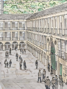 The Piece Hall Halifax Illustration - A4 print - Art by Arjo - Yorkshire Art
