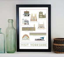Load image into Gallery viewer, Visit Yorkshire Travel inspired A3 poster print - Sweetpea & Rascal - Yorkshire prints
