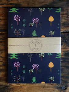 Trees A5 size Notebook - Sweetpea and Rascal - note book - stationery lovers