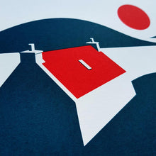 Load image into Gallery viewer, Red Roof Cottage Screenprint - A4 print - Scotland - Adventurers - Or8 Design