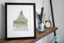 Load image into Gallery viewer, Leeds Town Hall Art Print - Accidental Vix Prints - Leeds illustrations