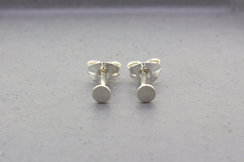 Tiny Dot Stud Earrings - Sterling Silver - Maxwell Harrison Jewellery