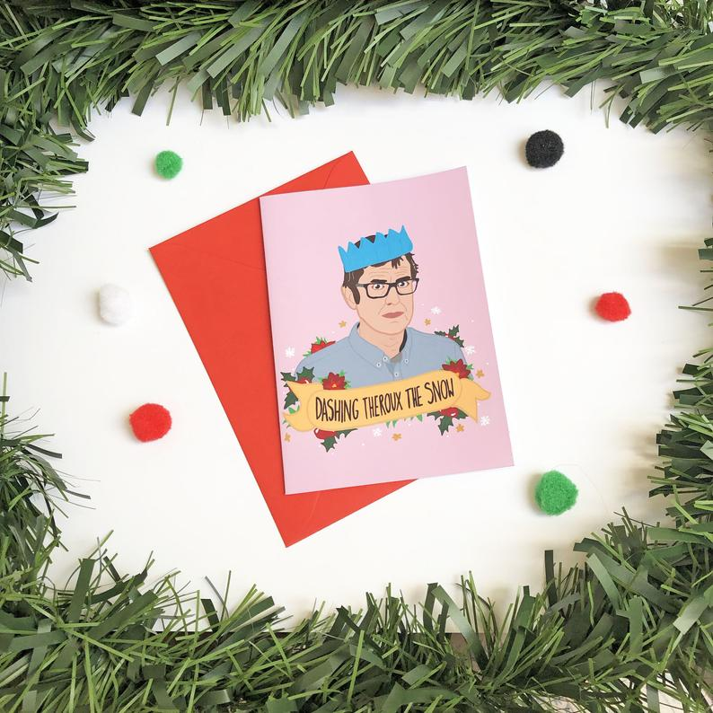 Dashing Theroux the Snow Christmas Card - Thriftbox - Louis Theroux