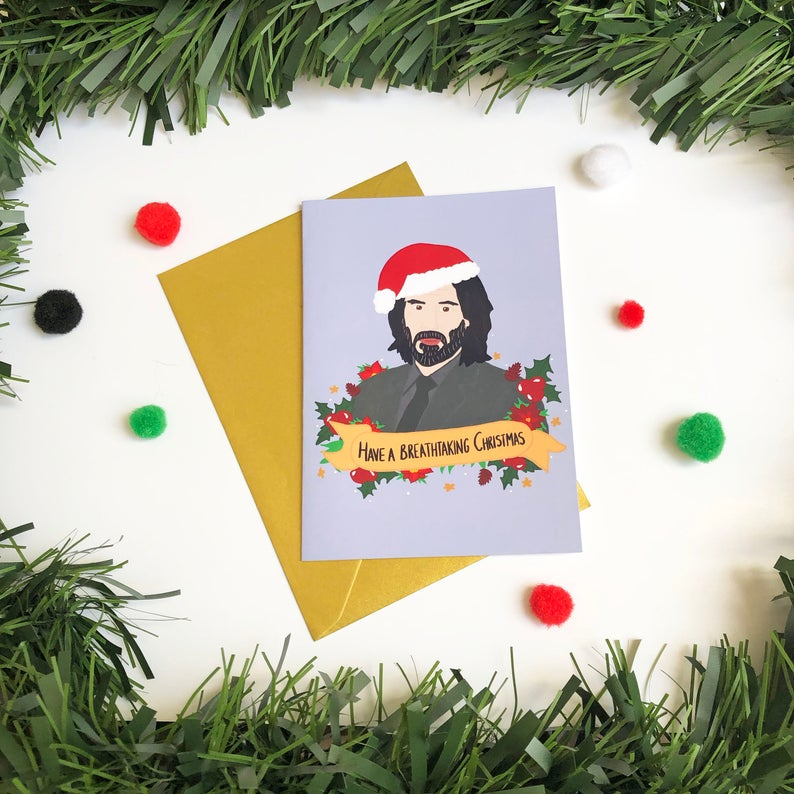 Have a Breathtaking Christmas - Christmas Card - Thriftbox - Keanu Reeves
