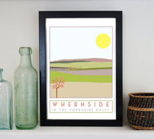 Load image into Gallery viewer, Whernside travel inspired poster print - Sweetpea & Rascal - Yorkshire Dales - 3 Peaks