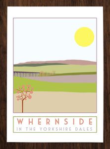 Whernside travel inspired poster print - Sweetpea & Rascal - Yorkshire Dales - 3 Peaks