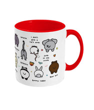 Load image into Gallery viewer, Can't be Arsed Mug - Animal Butts - Innabox - gift ideas - Animal lovers