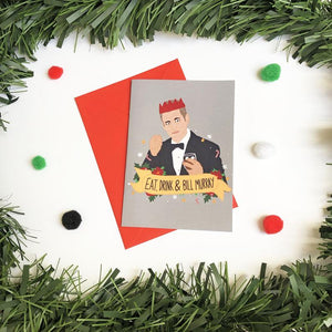 Eat Drink and Bill Murray - Christmas Card - Thriftbox - Bill Murray fans