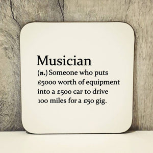 Sarcastic dictionary definition coaster - Musician - The Crafty Little Fox