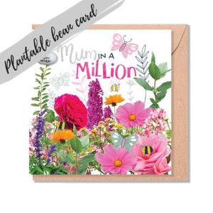 Plantable Bean Greetings Card - Mum in a Million