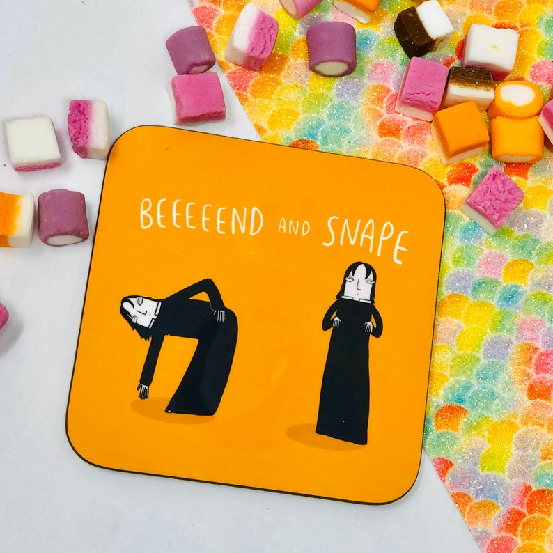 Bend and Snape coaster - Katie Abey - Magical