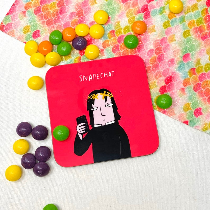 Snapechat coaster - Katie Abey - Magical