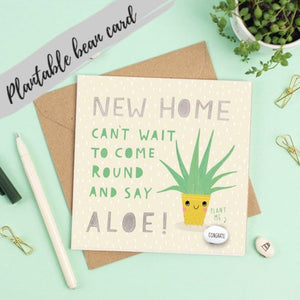 Plantable Bean Greetings Card - New Home