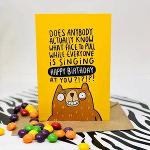 Birthday Card - puns - Katie Abey - sarcastic bear