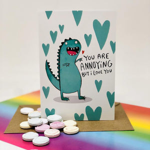 You're annoying but I love you anyway - motivational card - Katie Abey - Anniversary - Wedding