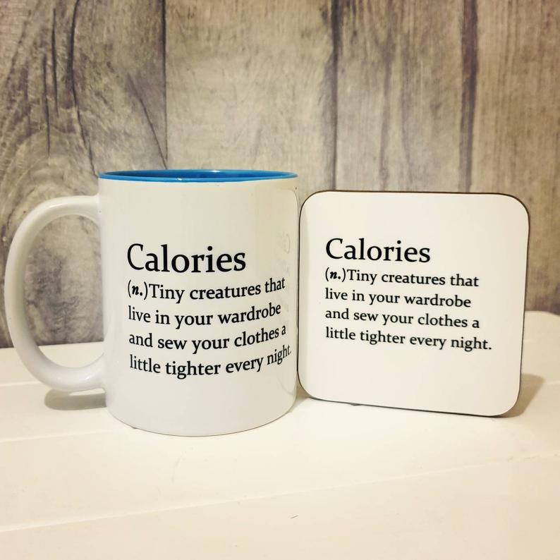Calories Mug - Funny Dictionary Definition - The Crafty Little Fox