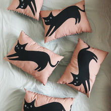 Load image into Gallery viewer, Black Cat Cushion - Jenna Lee Alldread - cat lover gifts