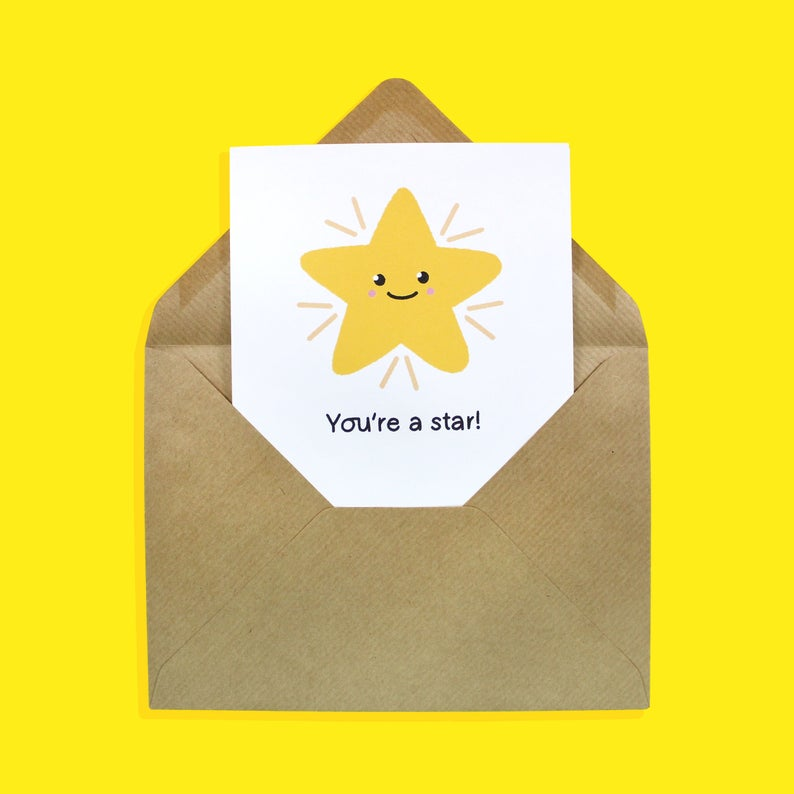 You're a Star - motivational card - Bronte Laura Illustration