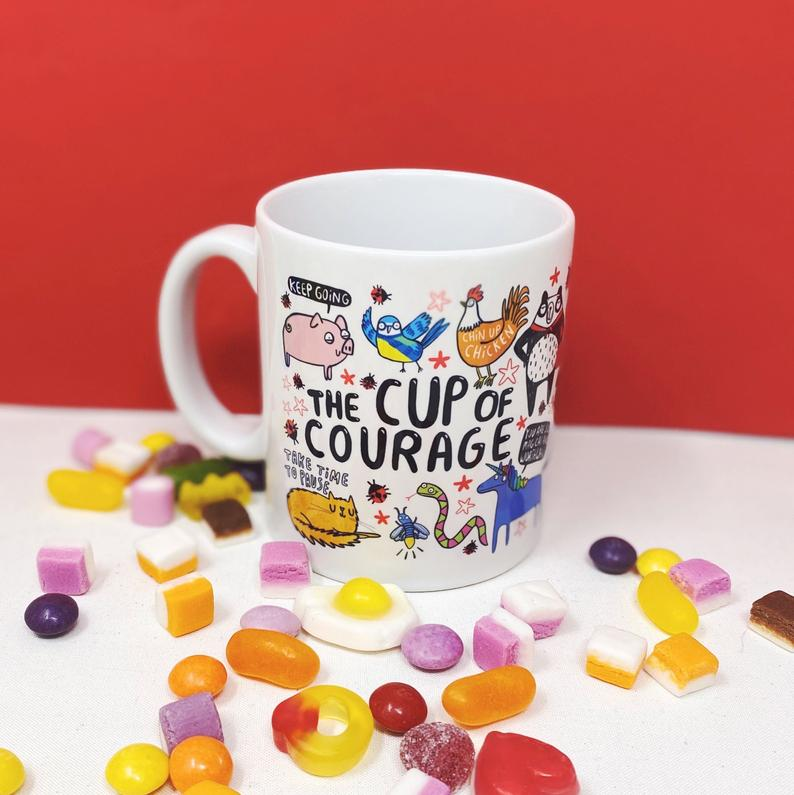 The Cup of Courage - Katie Abey - Bright and colourful - self care - motivational gifts