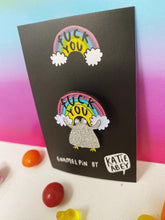 Load image into Gallery viewer, Enamel Pin - F**k You - Penguin - Sweary Gifts - Katie Abey