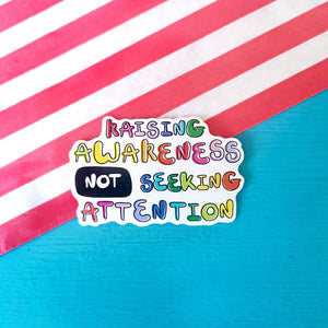 Invisible Illness Club Stickers - Innabox - self care - vinyl stickers