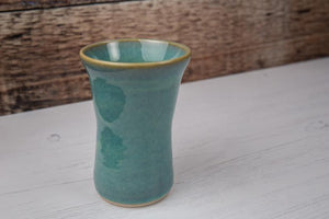 Flower Vase - Ceramic - Thrown in Stone - Sea Mist Green
