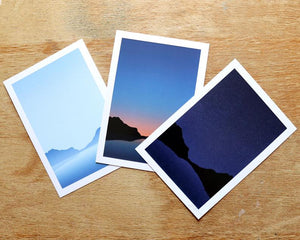 Coastal Sunset A5 print - Or8 Design - choose from 3 designs or all 3!