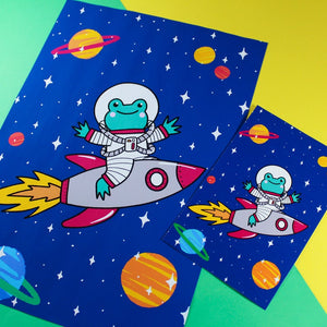 Apollo the Rocket A6 postcard Print - Bronte Laura Illustration