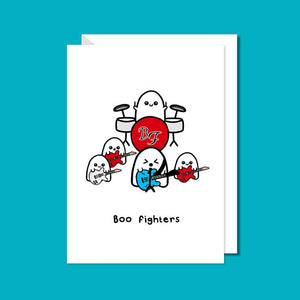 Boo Fighters Card - Greetings Card - Innabox - puns