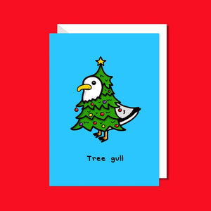 Tree Gull Christmas Card - Funny Christmas Greetings - Innabox - Christmas Tree