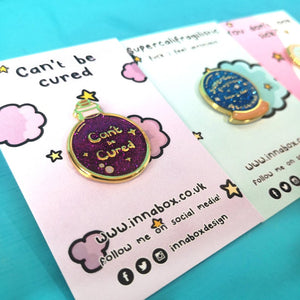 Can't be Cured - Potion Bottle Enamel Pin - Invisible Illness Club - Innabox