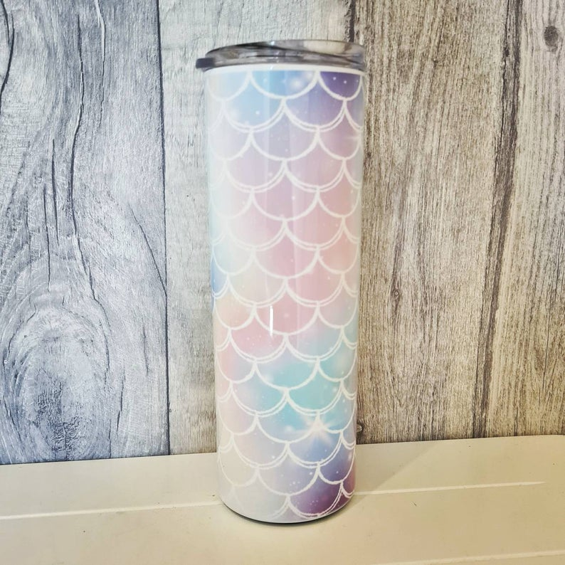 Thermal Cup - Mermaid scales - The Crafty Little Fox - Eco friendly gift