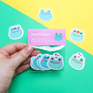 Cute little frog Sticker pack - Bronte Laura Illustration