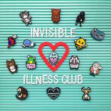 Load image into Gallery viewer, Irritable Owl Syndrome Enamel Pin - Invisible Illness Club - Innabox - self care - IBS
